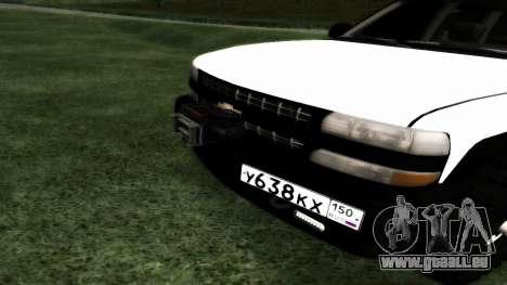 Chevrolet Suburban Offroad Final Version pour GTA San Andreas vue arrière