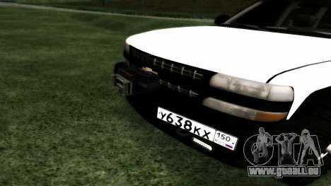 Chevrolet Suburban Offroad Final Version für GTA San Andreas Rückansicht
