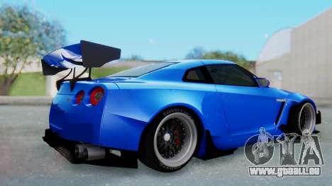 Nissan GT-R R35 Rocket Bunny pour GTA San Andreas vue de droite