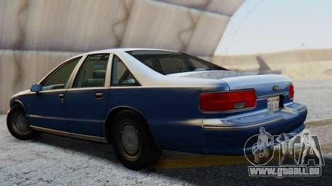 Chevrolet Caprice 1993 pour GTA San Andreas laissé vue