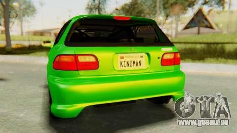 Honda Civic Vti 1994 V1.0 für GTA San Andreas Seitenansicht