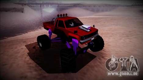 GTA 5 Karin Rebel Monster Truck pour GTA San Andreas vue de côté