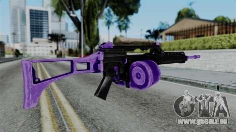 Purple M4 pour GTA San Andreas deuxième écran