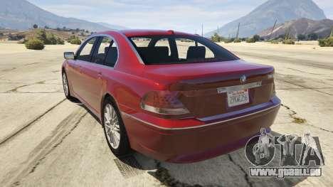 GTA 5 BMW 760i E65 hinten links Seitenansicht