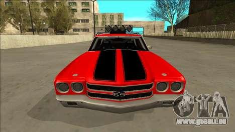Chevrolet Chevelle Rusty Rebel pour GTA San Andreas vue de dessus