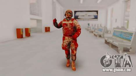 Zombie Military Skin pour GTA San Andreas deuxième écran
