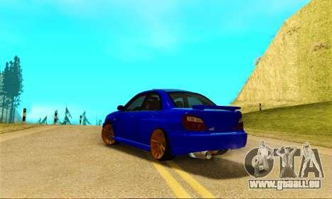 Subaru Impreza WRX STI Spec-C pour GTA San Andreas sur la vue arrière gauche