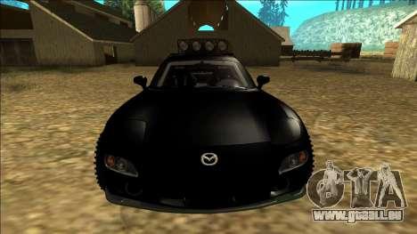 Mazda RX-7 Rusty Rebel pour GTA San Andreas vue de dessus