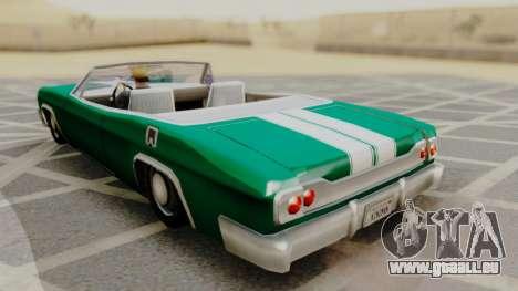 Blade F&F3 Mustang PJ pour GTA San Andreas laissé vue