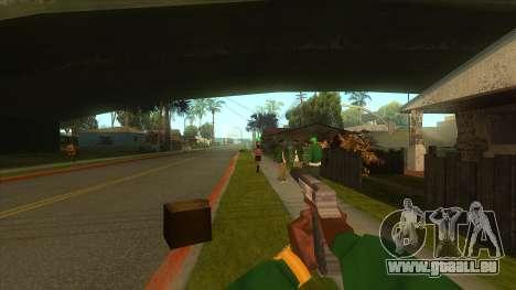 La première personne de la v3.0 pour GTA San Andreas huitième écran