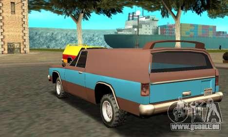 Picador Vagon Extreme für GTA San Andreas zurück linke Ansicht