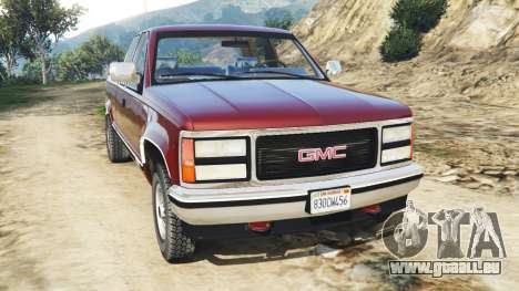 GMC Sierra 2500 Extended Cab 1992 [Beta] pour GTA 5
