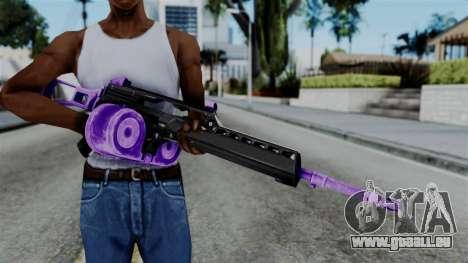 Purple M4 pour GTA San Andreas troisième écran
