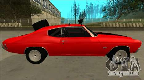 Chevrolet Chevelle Rusty Rebel pour GTA San Andreas salon