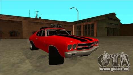 Chevrolet Chevelle Rusty Rebel pour GTA San Andreas vue de droite