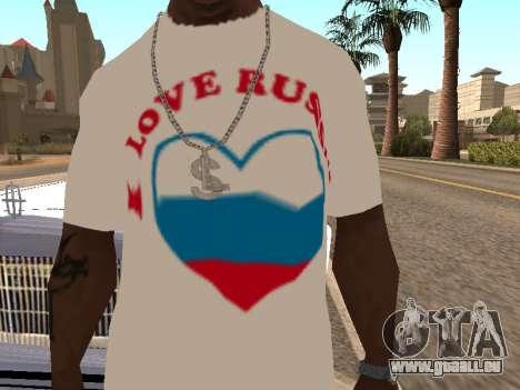 T-shirt j'aime la Russie pour GTA San Andreas deuxième écran
