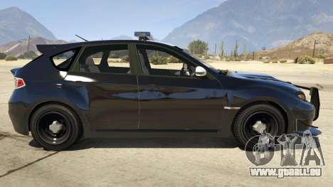 GTA 5 LAPD Subaru Impreza WRX STI linke Seitenansicht
