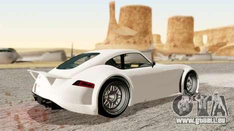 GTA 5 Bravado Verlierer Stock pour GTA San Andreas sur la vue arrière gauche
