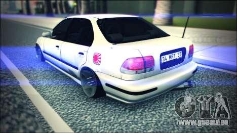 Honda Civic by Snebes pour GTA San Andreas vue de droite
