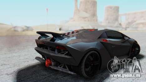 Lamborghini Sesto Elemento 2010 pour GTA San Andreas laissé vue