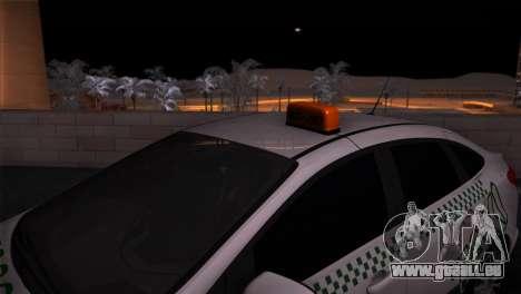 Ford Focus Taxi Tatarstan für GTA San Andreas zurück linke Ansicht
