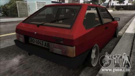 VAZ 2108 DropMode pour GTA San Andreas sur la vue arrière gauche