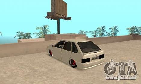Vaz 2114 Armenian pour GTA San Andreas sur la vue arrière gauche
