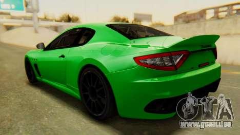 Maserati Gran Turismo Tron für GTA San Andreas zurück linke Ansicht