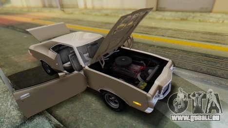 Ford Gran Torino Sport SportsRoof (63R) 1972 PJ2 pour GTA San Andreas vue arrière
