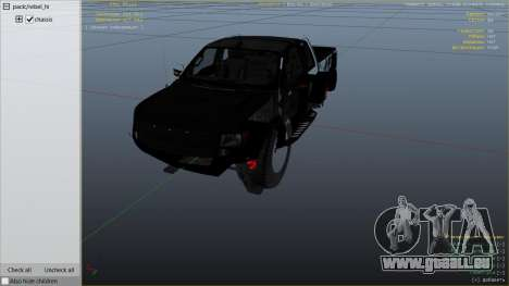 GTA 5 Ford Velociraptor 1500 hp droite vue latérale
