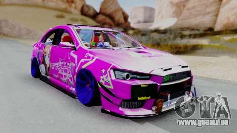 Mitsubishi Lancer Evolution X Hellaflush pour GTA San Andreas