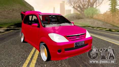 Toyota Avanza Best Modification für GTA San Andreas