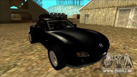 Mazda RX-7 Rusty Rebel pour GTA San Andreas vue de côté
