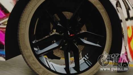 Chevrolet Corvette Stingray C7 2014 Sticker Bomb pour GTA San Andreas sur la vue arrière gauche