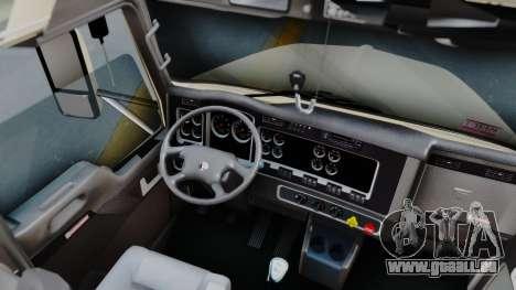 Kenworth T800 38s Flat Top für GTA San Andreas Innenansicht
