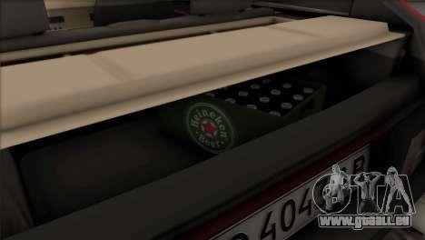 VAZ 2108 DropMode pour GTA San Andreas vue de dessus