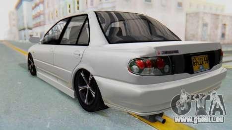 Mitsubishi Lancer für GTA San Andreas zurück linke Ansicht