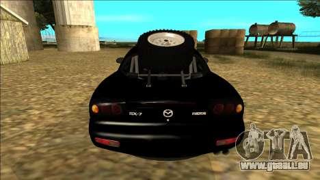 Mazda RX-7 Rusty Rebel pour GTA San Andreas vue de droite