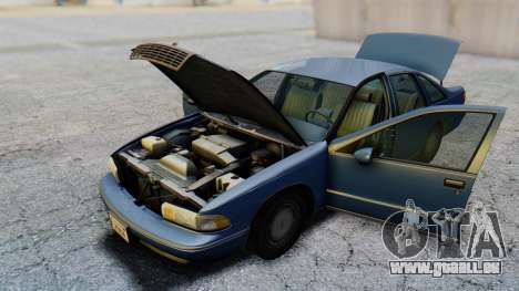 Chevrolet Caprice 1993 pour GTA San Andreas vue intérieure