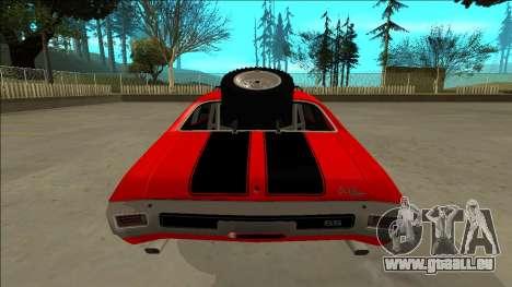 Chevrolet Chevelle Rusty Rebel pour GTA San Andreas roue