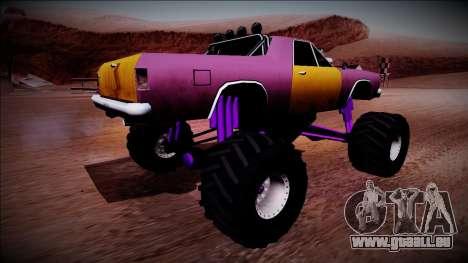 Picador Monster Truck pour GTA San Andreas sur la vue arrière gauche