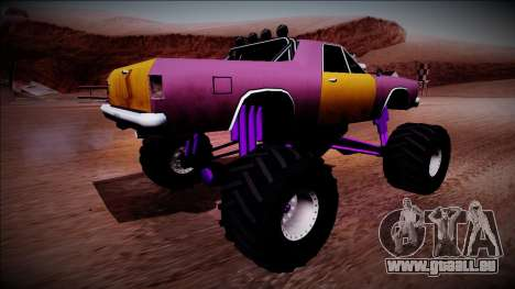 Picador Monster Truck für GTA San Andreas zurück linke Ansicht