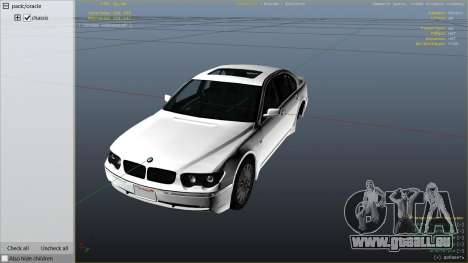 GTA 5 BMW 760i E65 rechte Seitenansicht