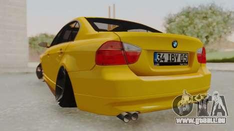 BMW M3 E90 pour GTA San Andreas laissé vue