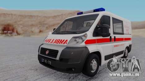Fiat Ducato Turkish Ambulance pour GTA San Andreas