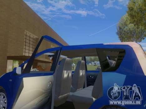 Nissan Note v1.0 Final pour GTA San Andreas vue intérieure