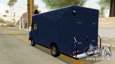 Boxville from GTA 5 pour GTA San Andreas sur la vue arrière gauche