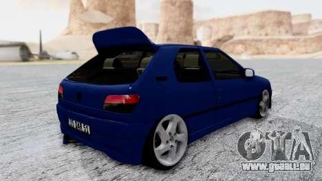 Peugeot 306 für GTA San Andreas zurück linke Ansicht