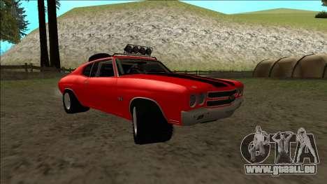 Chevrolet Chevelle Rusty Rebel pour GTA San Andreas vue intérieure