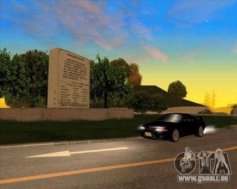 Nissan Skyline GT-R BNR32 Initial D Legend 2 N.K pour GTA San Andreas vue arrière